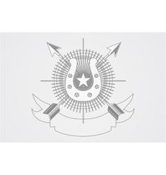 Horse club logo vector image