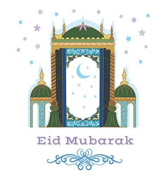Eid mubarak greetings vector