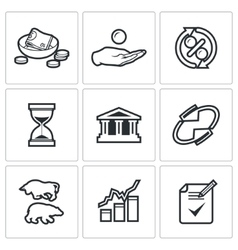 Loan icons vector