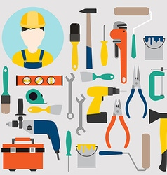 Color tools for repair and home improvement vector