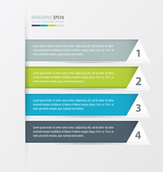 Triangle styles modern infographics banner vector