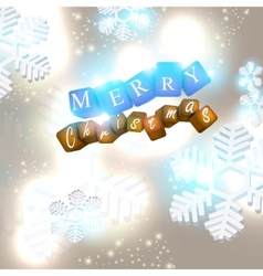 merry christmas glittering background  vector image