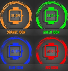 Wristwatch icon fashionable modern style in the vector