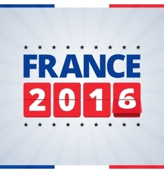 France 2016 poster vector