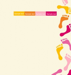 Colorful footprints design vector
