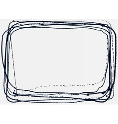 Abstract grunge frame vector