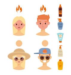 Beach summer suntan characters lifestyle vector