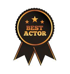 Best actor award rosette ribbon image vector