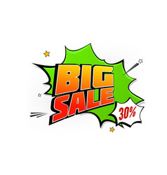 Big sale pop art splash background explosion in vector