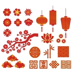 Chinese korean or japan icons for chinese new vector