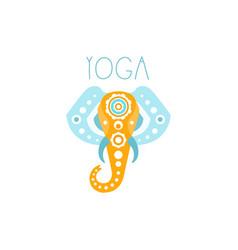 Colorful creative yoga elephant logo vector