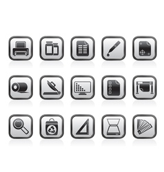 Commercial print icons vector image vector image