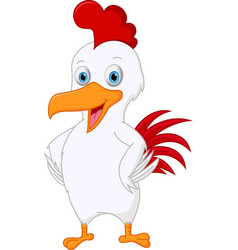 Cute chicken cartoon vector
