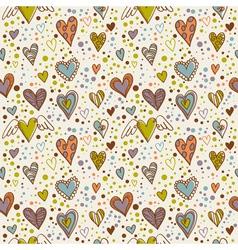 Cute doodle seamless wallpaper vector image vector image