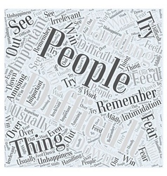 Handling difficult people word cloud concept vector