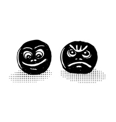 Lucky and sad masks vector image vector image