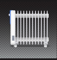 Oil radiator isolated on transparent background vector