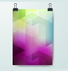 Poster minimal design template business geometric vector