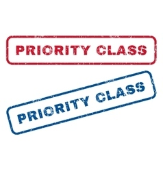 Priority class rubber stamps vector