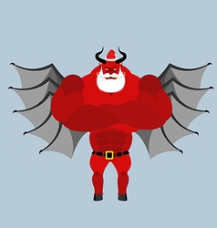 Satan claus devil with beard and mustache red vector