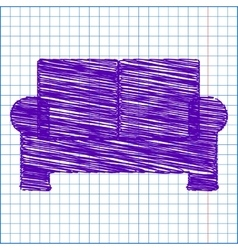 Scribble icon on the school paper vector