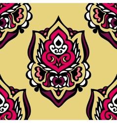 Seamless vintage Floral damask design vector image vector image