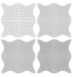 set the watermark guilloche element vector image vector image