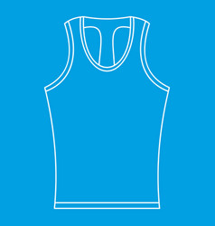 Sleeveless shirt icon outline style vector