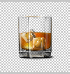 Transparent realistic glass with smokey vector image vector image