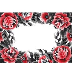 Watercolor floral design vector