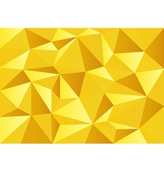 Yellow gold celebrate polygon background vector