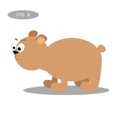 Brown bear isolate on white vector image