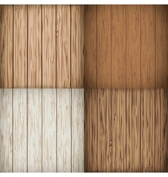 Wooden background set vector