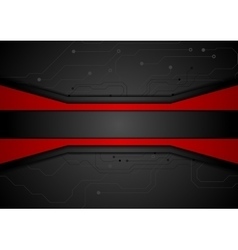 Contrast red black tech abstract background vector