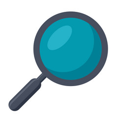 magnifying glass or search icon vector image