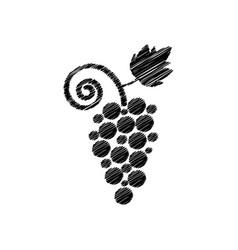 Abstract black grape scribble sign vector