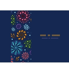 Holiday fireworks frame horizontal seamless vector