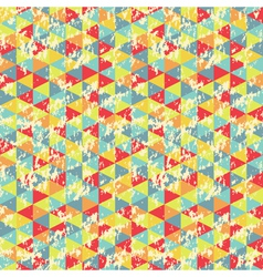 Vintage Geometric Triangles Pattern vector image
