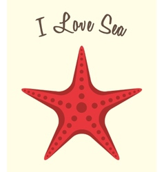 Love sea vector