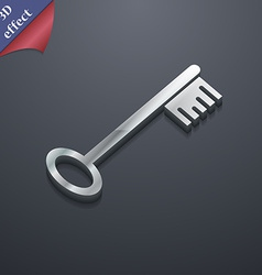 Key icon symbol 3d style trendy modern design with vector