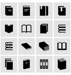 Black book icon set vector