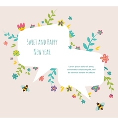 Rosh hashana jewish holiday greeting card with vector