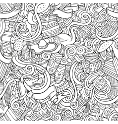 Cartoon hand-drawn doodles on the subject latin vector