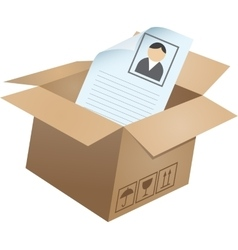 Business symbols in box - 05 vector image