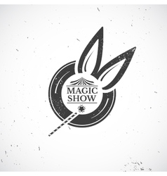 Circus vintage magic show vector