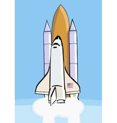 Space shuttle after launch vector