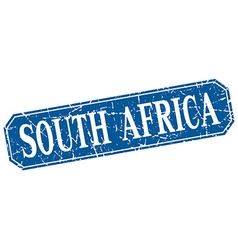 South africa blue square grunge retro style sign vector