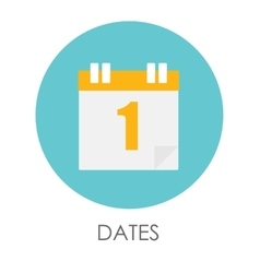 Dates Flat Icon vector image