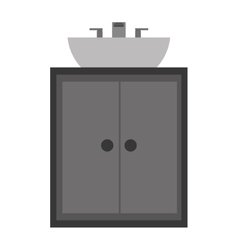 Bathroom cabinet icon vector