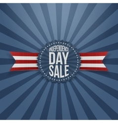 Independence day sale textile badge vector